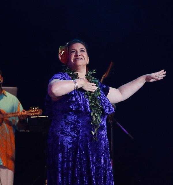 Leinā'ala Pavao Jardin with Hālau Ka Lei Mokihana o Leinā'ala